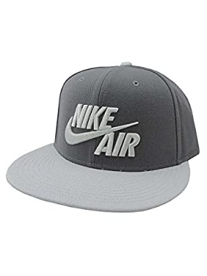 NIKE Mens Air True Snapback Hat Dark Grey/Wolf Grey