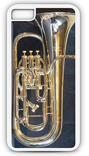 iPhone 6s Case Euphonium Horn Brass Band Instrument Customizable by TYD Designs in White Rubber