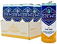 BRWD Refreshing Energy Drinks - Recovery Energy for Athletes, Plant-based, Vegan, Non-GMO, Clean-label - 12 Ou