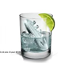 Get 8X Novelty TPR Household Party Gin & Titanic Ship Shaped Freeze Ice Mold Tray-Blue dispense