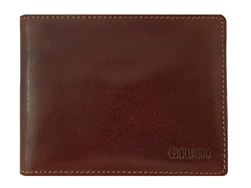 Giudi Expensive Slimfold Men's Passcase Wallet CardHolder Small Size High Capacity for Cards and Cash Classic Italian Design