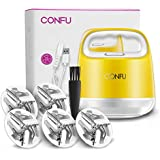 CONFU Sweater Shaver Fabric Fuzz Remover Portable Clothes Lint Shaver/Fabric Defuzzer- Rechargeable Lint Remover Bobbles-Dual Protection for Your Clothes,Lemon (5-packs)