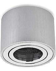 Sweet LED, opbouwspot plat, van aluminium, 80x50mm, draaibare rond, hoekig, opbouwlamp, plafondlamp, opbouwspot, opbouwspot