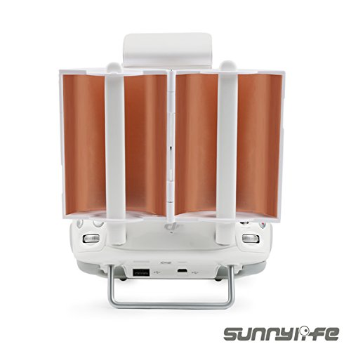 Price comparison product image SunnyLIFE Coppery Foldable Parabolic Antenna Signal Booster for DJI Phantom 4 Phantom 3 Advanced Inspire 1 Transmitter Extended by JIELIOU