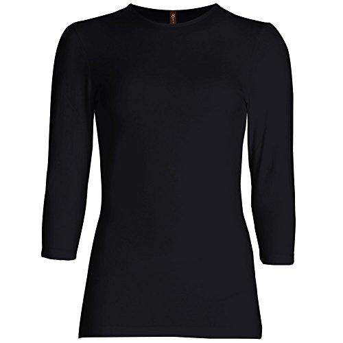 Buy black 3 4 sleeve shirt dress - 3