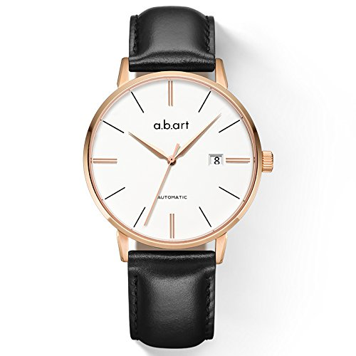 a.b.art Stainless Steel Case Clear Dial Automatic Watches for Men