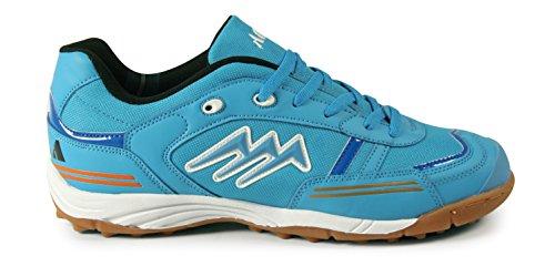 AGLA CONDOR Light Zapatos de Futsal Outdoor, Azul/Blanco/Negro, 26.5cm/42
