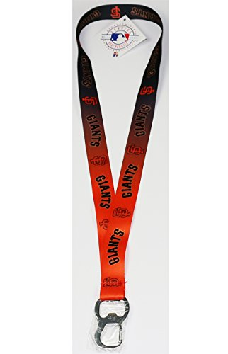 (Pro Specialties Group MLB San Francisco Giants Ombre Lanyard, Black, One Size)