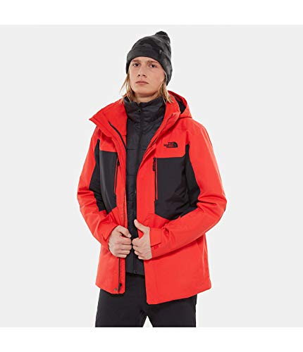 The North Face Men's Clement Triclimate Jacket - Fiery Red & TNF Black - S