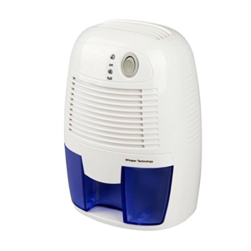 Dehumidifier, 500ml Tank Large Air Inlet up to 215 Square Feet per Day Ultra Quiet Lightweight Portable Dehumidifier