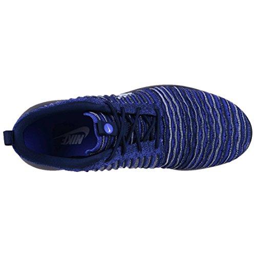 Nike Mens Roshe Due Scarpe Da Corsa Flyknit College Blu / Bianco
