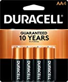 Duracell - CopperTop AA Alkaline Batteries - Long Lasting, All-Purpose Double A Battery for Household and Business - 4 Count