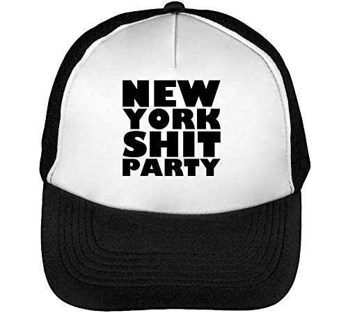 Blanco Hombre Gorras Beisbol York Shit New Negro Snapback Party aqzTK4v