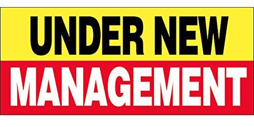 - 3x10 Ft UNDER NEW MANAGEMENT Vinyl Banner Sign yrb