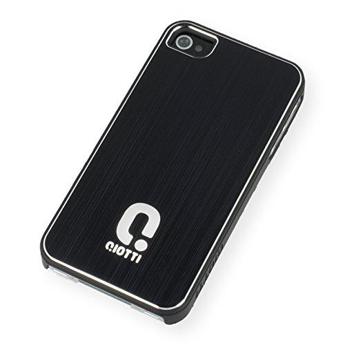 QIOTTI Q. à Alu snapcase Coque pour iPhone 4/4S–Noir
