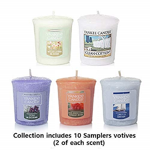 Yankee Candle Samplers Votive Candles Fresh & Floral Collection