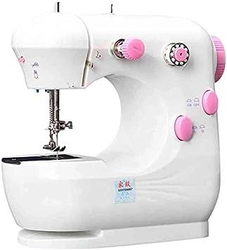 Mini portátil de la máquina de coser de costura de abeja, mini máquina de coser for adultos de los niños de chicas principiantes, la herramienta de coser domésticas overlock de múltiples funciones