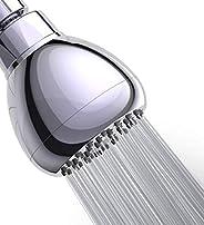 WASSA High Pressure Shower Head - 3 Inch Anti-leak Fixed Showerhead - Angle-adjustable Metal Swivel Ball Joint