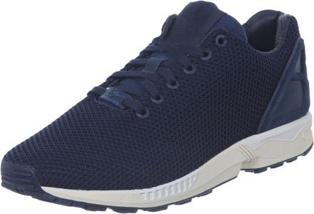 White adidas Flux Zx Blue Trainers Collegiate Navy gwU86Owx