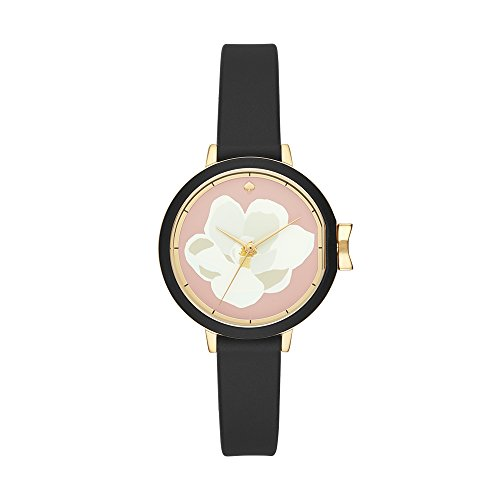 kate spade new york Women's 'Park Row' Quartz Stainless Steel and Silicone Casual Watch, Color:Black (Model: KSW1417)