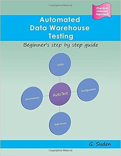 Automated Data Warehouse Testing