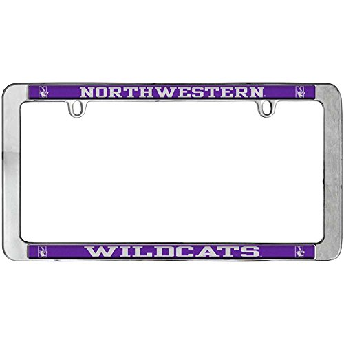 Stockdale Northwestern Wildcats Thin Metal License Plate Frame