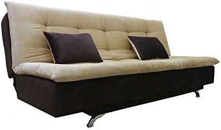 Adorn India Aspen Three Seater Sofa Cum Bed Brown And Beige