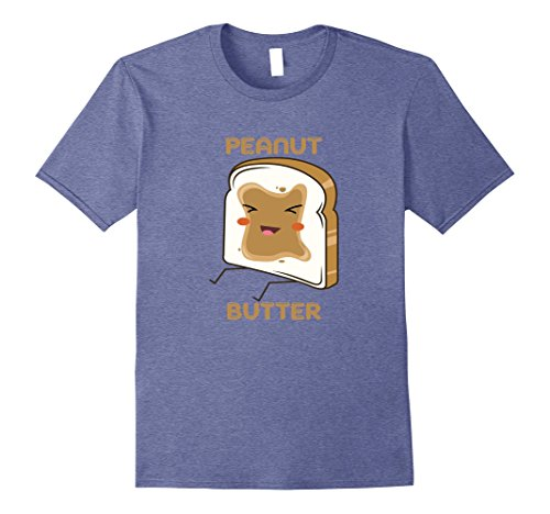 Mens Matching couple friends peanut butter and jelly t-shirt Large Heather - Matchy Fashion Matchy