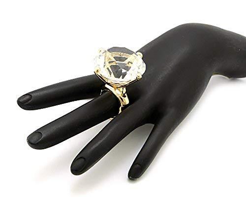 Women's Extra Big Rhinestone Fashion Stretch Ring,