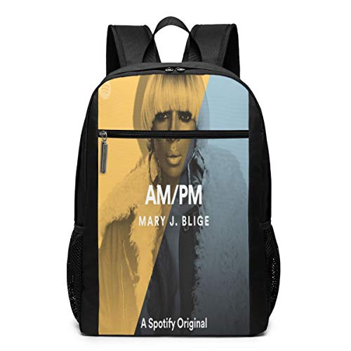 Mary J Blige School Backpack For Women Men Canvas Custom Fashion College Student Multi-function Daypack For Travel 17 Inch Backpack