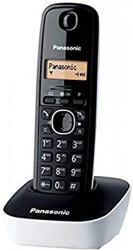 Panasonic KX-TG1611, Teléfono Fijo Inalámbrico (LCD, Identificador de Llamadas, Agenda de 50 Números, Tecla de Navegación, Alarma, Reloj), DECT, Blanco: Panasonic: Amazon.es: Electrónica