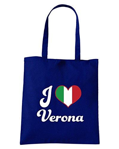 T-Shirtshock - Bolsa para la compra TLOVE0089 italy i heart verona Azul Marino