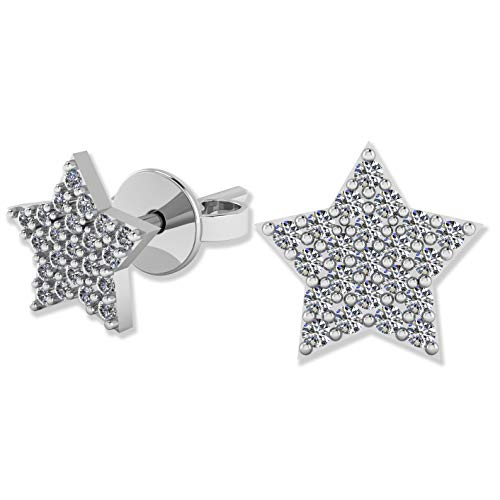 .925 Sterling Silver & Pavé-Set Cubic Zirconia Petite Stud Earrings - Classic Star -