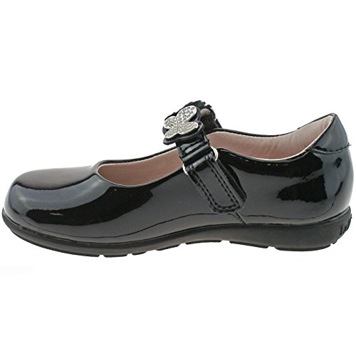 Lelli Kelly LK8309 (DB01) Love Black Patent School Shoes F Fitting-25 (UK 7)
