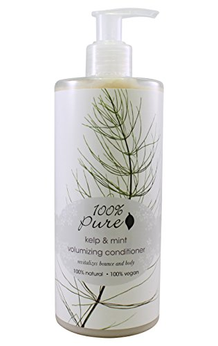 Vegan Conditioner by 100% Pure, Volumizing Kelp & Mint, 13 oz