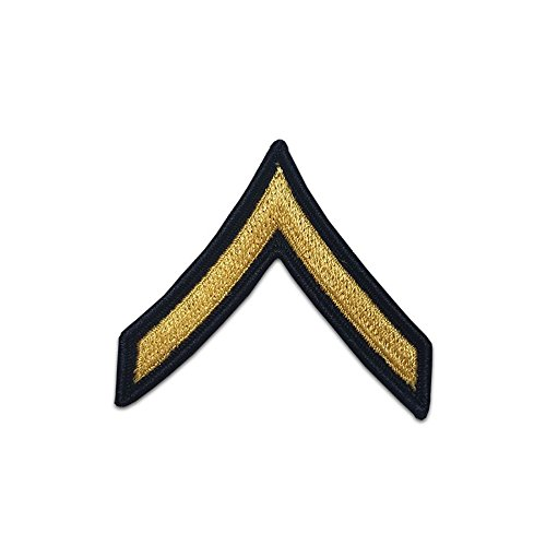 US Army Male Rank Gold On Blue Chevrons - Private ()