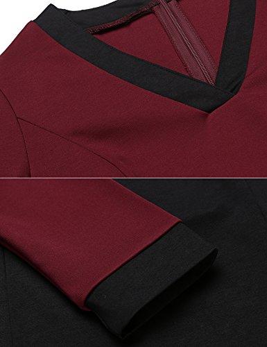Maniche Vestito vivo Modfine lunghe rosso Donna S5wHq