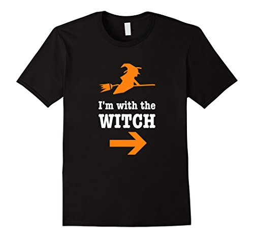 Mens Men's Halloween Couples Costume Shirt I'm With The Witch Tee Medium (Frankenstein's Wife Costume)
