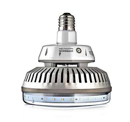 HyperSelect High Bay LED UFO Light, Large Mogul E39 Base, 115W (500W Equivalency) 16000 Lumens, 5000K (Crystal White) Super Bright Warehouse Area Lighting, UL & DLC