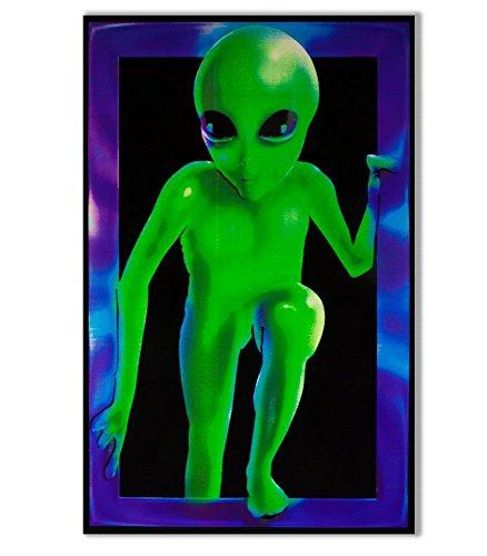 Alien Visitor Blacklight Responsive Poster Blacklight