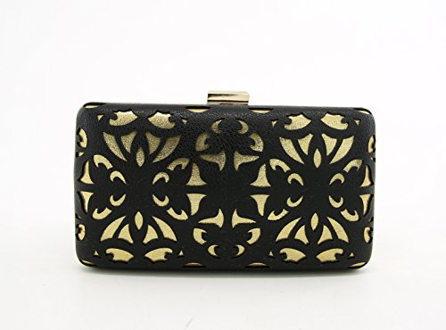 Bridal clutch Wedding Party Evening bag Chain Wallet Hand Made Laser-Cut Purse