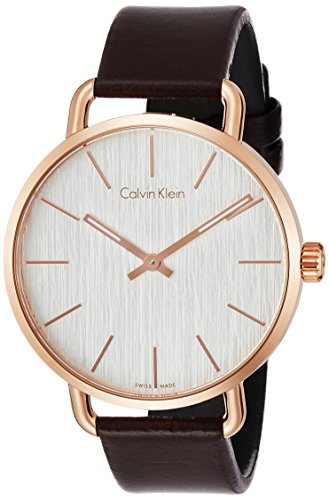 Calvin Klein Women's Analogue Quartz Watch with Leather Strap K7B216G6