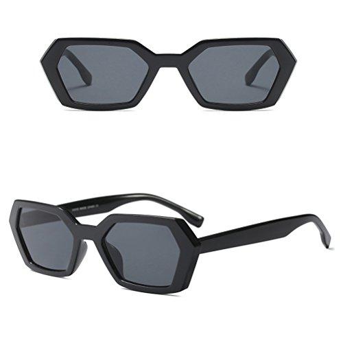 Zhhlaixing Hombres Sol Pequeñas y Moda de Gafas Black Caja de Poligonal para Gafas Mujeres I7rwI