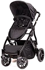 The Muv REIS modern stroller in Satin Black finish is perfect for everyday use with its light weight and easy compact fold- with the seat on or off. It's fully functional for almost every lifestyle and will give your child a smooth and safe r...