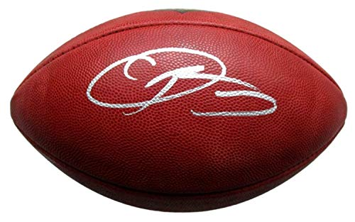 Duke Official Football Nfl Autographed - Odell Beckham Jr. New York Giants Autographed Signed Memorabilia Official NFL Duke Football - JSA Authentic