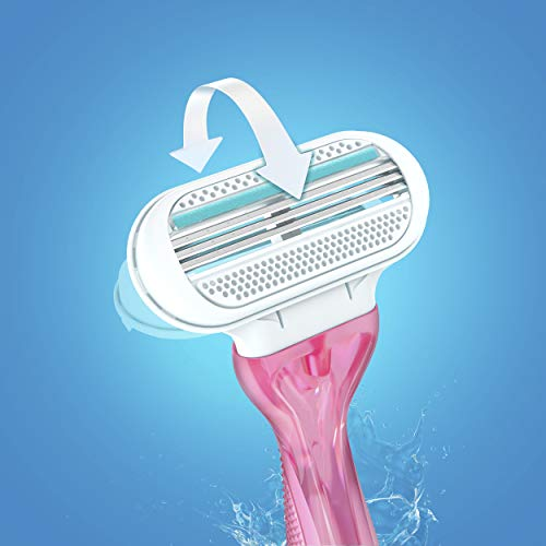 Gillette Venus Razors for Women with Sensitive Skin, Disposable Womens Razors, 3 count