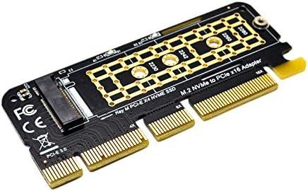 CUHAWUDBA M.2 NVMe SSD a PCI-E X16 Tarjeta Convertidora NGFF M-Key M.2 PCIe PCI-Express X4 / X8 / X16 Unidad de Disco Duro HDD Tarjeta de Adaptador de Disco de Estado SóLido: