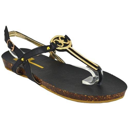 Cape Robbin Delia-1 Dames Sandalen Voor Dames, Zwart