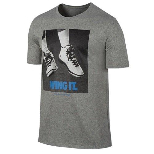 MEN'S AIR JORDAN RETRO 2 WING IT TEE-LARGE/GREY (Air Jordan Shirt Wings)