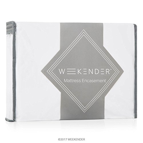 WEEKENDER Waterproof Mattress Encasement with Zipper Closure - Hypoallergenic Protector Helps Block Bed Bugs - Twin